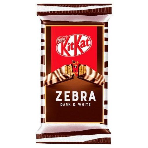 KitKat Zebra ropogós ostya étcsokoládéban és fehér csokoládéban 41,5 g