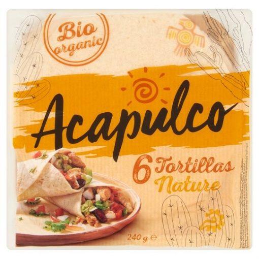 Acapulco bio lágy tortilla 240g
