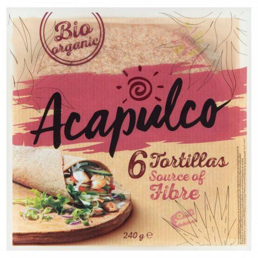 Acapulco bio lágy tortilla búzakorpával 240g