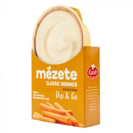 Mezete Hummusz klasszikus csicseriborsó krém sós rudacskákkal 92g