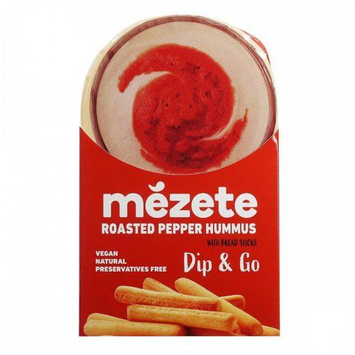 Mezete Hummusz paprikás csicseriborsó krém sós rudacskákkal 92g