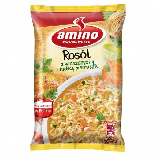 Amino instant csirkés, zöldséges tésztás leves 57g