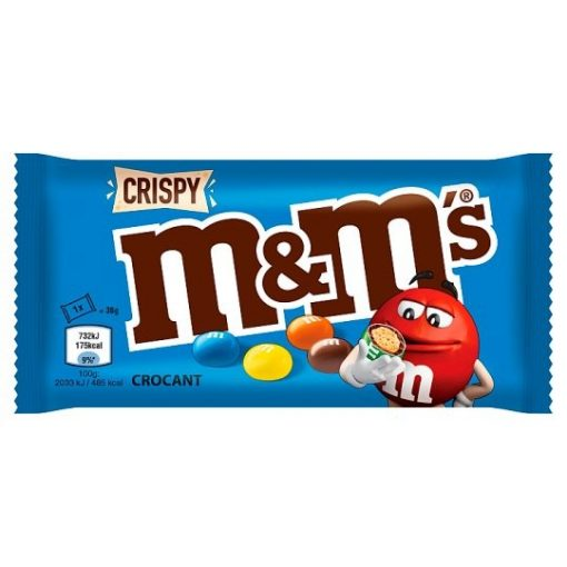 M&M's Crispy csokoládés cukordrazsé ropogós rizzsel 36g