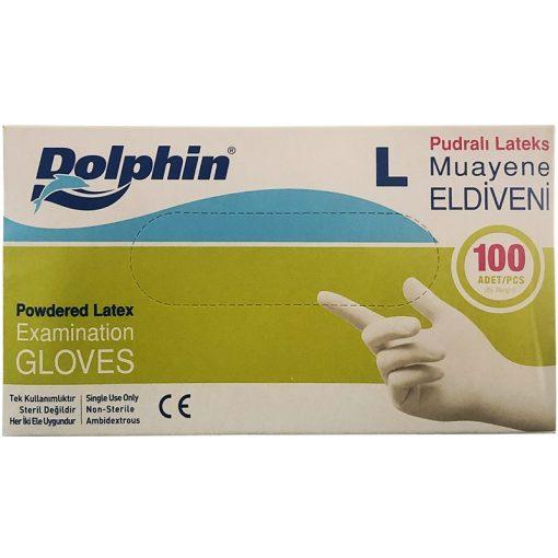 """Dolphin gumikesztyű """"L"""" Latex 100db 35Ft/db"""