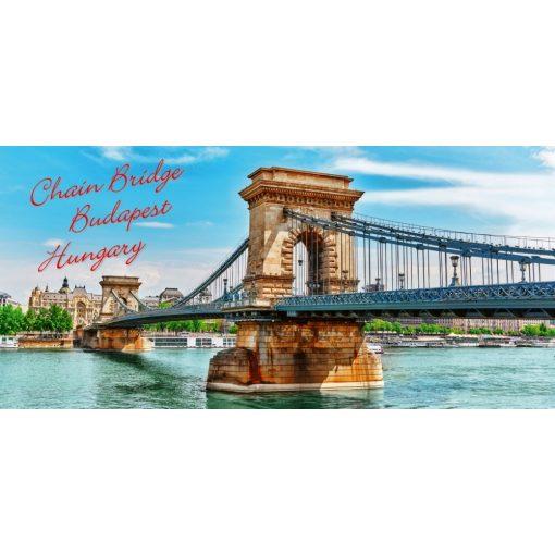 """FantasTick svájci tejcsokoládé Budapest 3D """"Lánchíd"""" 100g"""