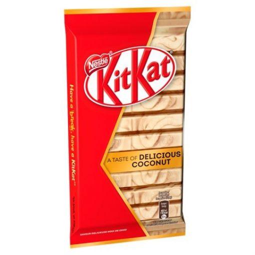 KitKat ropogós ostya kókusz- és mandulaízű fehér és tejcsokoládéban 112 g