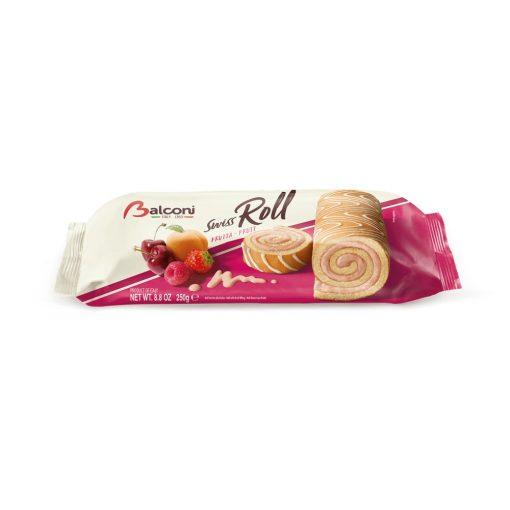Balconi Roll Frutta piskóta tekercs vegyes gyümölcs ízű töltelékkel 250g