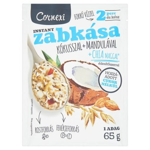 Cornexi zabkása kókusszal és mandulával, édesítőszerrel 65g