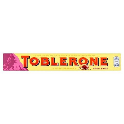 Toblerone svájci tejcsokoládé mazsolával, mézzel és mandulával 100g
