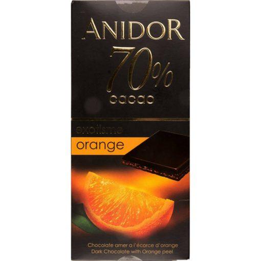 Kandia Anidor étcsokoládé 70% narancs ízesítéssel 85g