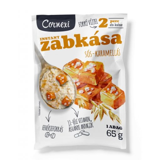 Cornexi proteines zabkása sós karamell darabkákkal 60g