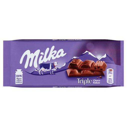 Milka Triple Choco Cacao alpesi tejcsokoládé 90g