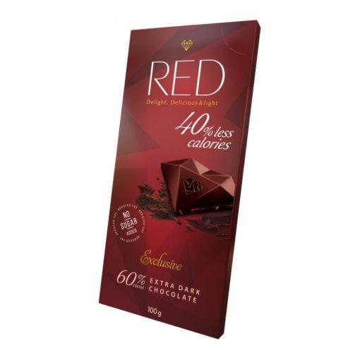 Red csökkentett kalóriatartalmú étcsokoládé 60% kakaótartalommal 100g
