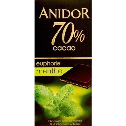 Kandia Anidor étcsokoládé 70% menta ízesítéssel 85g