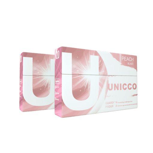 Unicco-őszibarack mentol nélküli hevítőrúd 20db/doboz