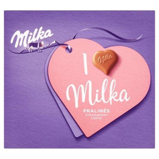 Milka I love Milka alpesi tejcsokoládé praliné epres töltelékkel 110 g