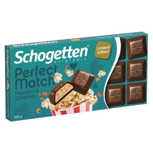 Schogetten  csokoládé popcorn-caramel 100g