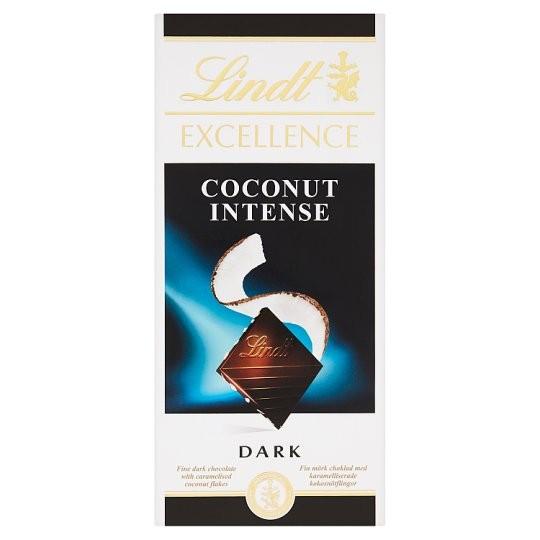 Lindt Excellence étcsokoládé kókusz 100g